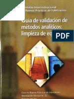 Cipam 022 Validacion de Metodos Analiticos - Limpieza de Equipos