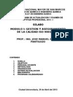 Silabo Del Curso - Gac Iso 9001 - 20 de Abril Del 2013