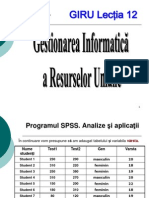 Lectia 12 SPSS 2012