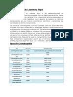 Cromatografía de Columna y Papel
