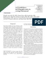 Hipo e Hiperglicemia en nutrición parenteral