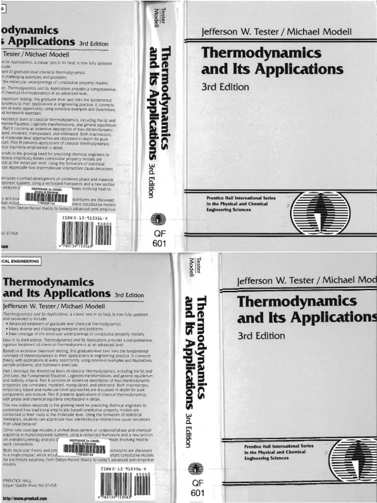tester j w modell m thermodynamics and its applications 3rd rh pt scribd com
