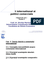 Comert international si politici comerciale