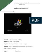 Como Hacer una instalación  de Windows xp Alma Karina Alvarado Rodriguez 2-G
