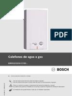 Manual Calefones Bosch Compact 2 27 9kw Automodulante de Tiro Natural