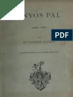 Császár Elemér - Ányós Pál 1756-1784 (1912).