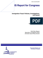 Immigration Fraud - Policies, Investigations, And Issues