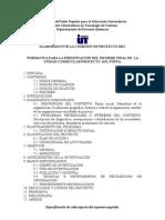 Normativa Para La Presentacion de Proyecto