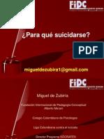 Para qué suicidarse