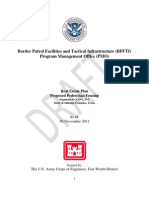 draft Army Corps report on border walls 30 November 2012