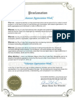 City of Lake Park Volunteer Appreciation Week Proclamation 2013