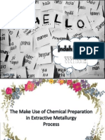 The Make Use of Chemical Preparation