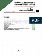 032[Manual] Nissan Tsuru 91-96 - Serie B13 Motor GA16DNE (Suplemento) - Sistema de Lubricacion y Enfriemiento Del Motor