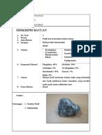 Deskripsi Batuan Beku