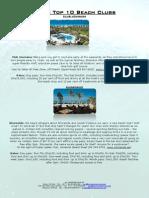 Dubai Top 10 Beach Clubs