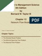 Chapter 12 - Network Flow Models