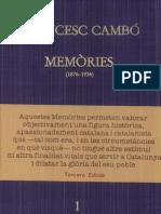 Memories Francesc cambó
