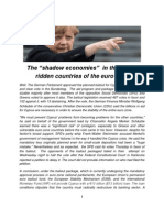"""The """"shadow economies""""  in the crisis-ridden countries of the euro zone"""