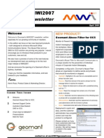 Geomant MWI2007 Reseller Newsletter April 2009
