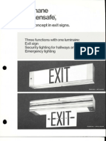 Holophane Emergency Sign-Lensafe Series Brochure 8-73