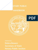California Notary Handbook 2013