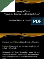 Regulação de íons e equilibrio acido-base