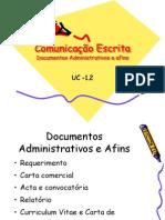 Comunicação Escrita-Documentos administrativos