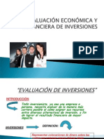 Eva Luac i on Economic a de in Versiones