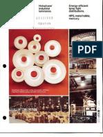 Holophane Industrial Luminaires Brochure 8-78
