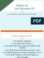 Silabus de Recursos Humanos VI
