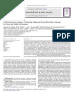 brigido-2013-a retrospective analysis evaluating allogenic cancellous bone sponge for foot and ankle arthrodesis