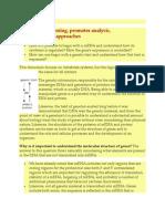 Genomic Cloning Promoter Analysis Genetics Approach