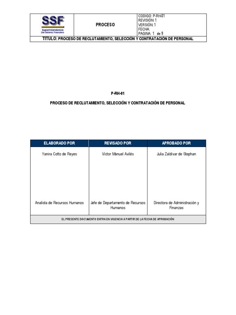 3 Proceso De Reclutamiento Seleccin Y Contratacin De Personal
