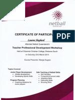 netball qld professional development