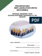 Sprawozdania z Cwiczen Laboratoryjnych Biochemia-i Lekarski