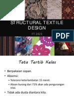 Structural Design Textile Part 1