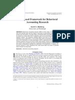 A Framework of Research in Bar