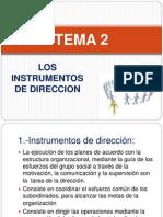 Tema 2 Los Instrumentos de Direccion
