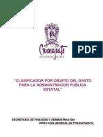 Clasificador Por Objeto Del Gasto 2006