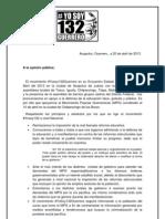 Pronunciamiento de #Yosoy132Guerrero al Movimiento Popular Guerrerense