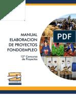 Manual de Elaboracion de Proyectos de FONDOEMPLEO - 12 Concurso.pdf