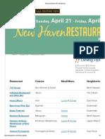 New Haven Restaurant Week April 2013