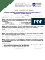 Requisitos Para Registrar Titulos