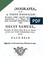 Decsy Sámuel - Osmanografia 1.rész 1789.
