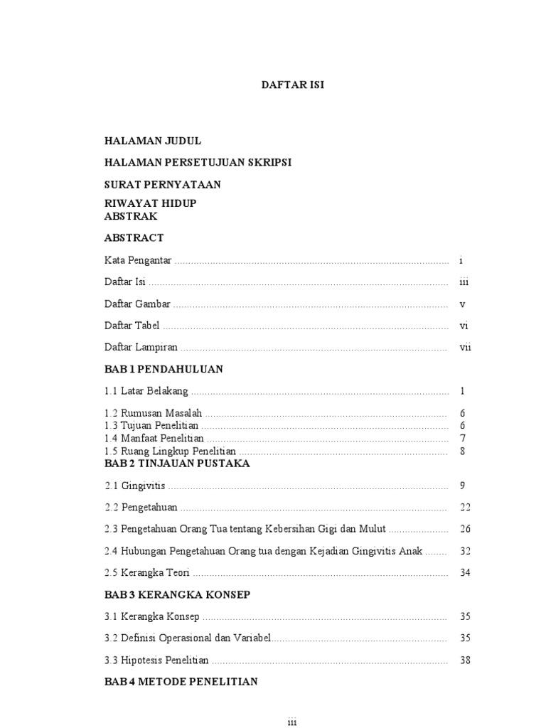 Daftar Isi Skripsi