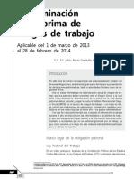 Determinación de la prima de riesgo de trabajo. Aplicable del 1 de marzo de 2013 al 28 de febrero de 2014
