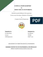 Seminar Report[Networking]