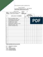 CENTRO DE EDUCACIÓN ALTERNATIVA registro auxiliar