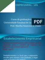 Complementação - Estabelecimento empresarial