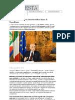 Discorso Di Fine Anno Di Napolitano